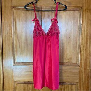 NWOT Red Lace Slip Nightie